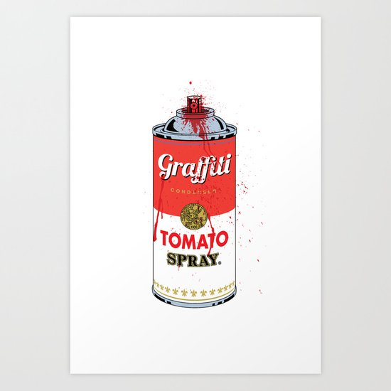 Graffiti Tomato Spray Can Art Print