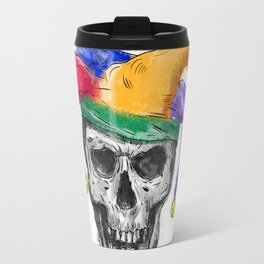 Jester Skull Laughing Tattoo Travel Mug