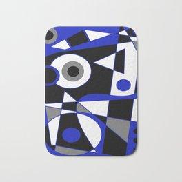 Abstract #505 Blue Bath Mat