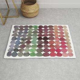 Colorful Watercolor Circles Pattern Rug
