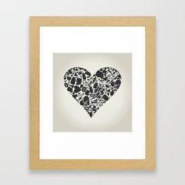 Heart of a part of a body Framed Art Print