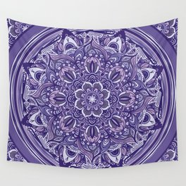 Great Purple Mandala Wall Tapestry