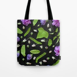Leaves and flowers pattern (17) Tote Bag