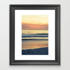 Orange Skies Framed Art Print