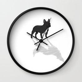 Wild At Heart - Black French Bulldog Wall Clock