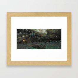 Cloudy night Framed Art Print