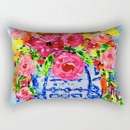 Summer Florals Ginger Jar Rectangular Pillow