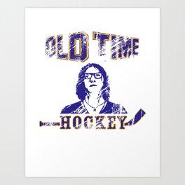 """Old Time Hockey, Coach?"" Art Print"