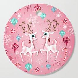 Cute Christmas Reindeer Cutting Board