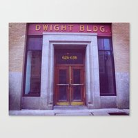 dwight Canvas Prints featuring Dwight Building  by Madison Daniels