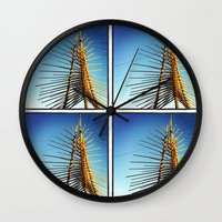 coachella Wall Clocks featuring Coachella by Wolf Feather