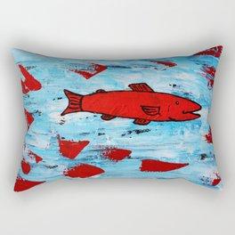 Red Fish Rectangular Pillow
