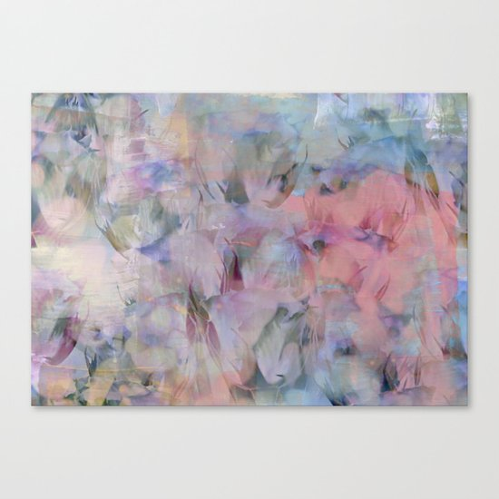Painterly Soft Flora Abstract Canvas Print