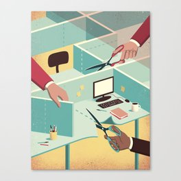 Tailor-made workspace Canvas Print
