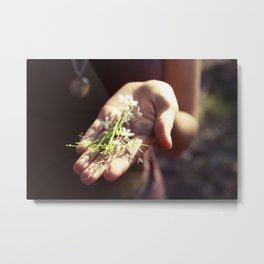a handful of tiny flowers Metal Print