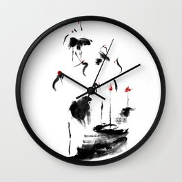 7 Cranes Wall Clock