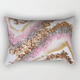 Geode Art Pink Rectangular Pillow
