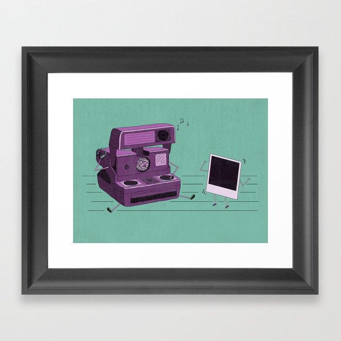 Shake It Like A Polaroid Picture Framed Art Print