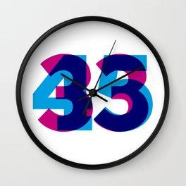 33/45 Wall Clock