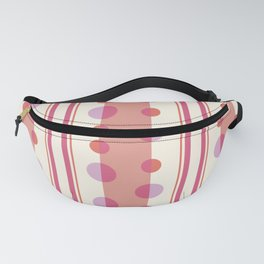 Modern Circles and Stripes in Peach and Cream Fanny Pack