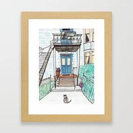 A Montreal Cat Framed Art Print