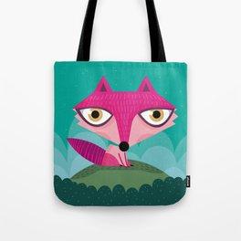 Hot pink fox Tote Bag