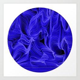 Midnight Blue Mist Art Print