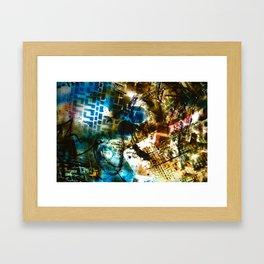 Retrollage 8.. Framed Art Print