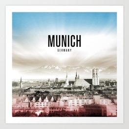 Munich Wallpaper Art Print