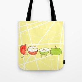 Apple Halves Tote Bag