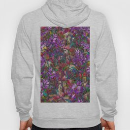 Floral Abstract Stained Glass G175 Hoody