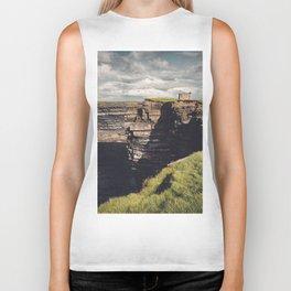 Irish Sea Cliffs Biker Tank