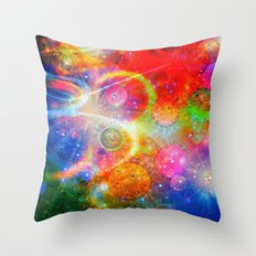 Altered Orbs in Space Throw Pillow
