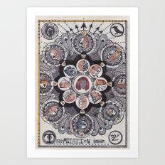 trans-MUTATION emblem Art Print