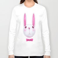 rabbit Long Sleeve T-shirts featuring Rabbit by Lime