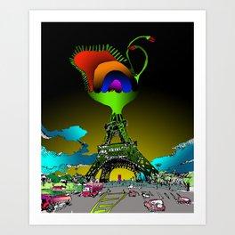 Eiffel Flower Art Print