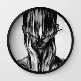 Surreal Distorted Portrait 03 Wall Clock