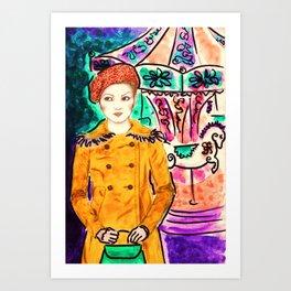 Carrusel  Art Print