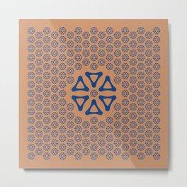 Hexagonal Point Metal Print
