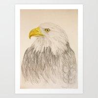 eagle Art Prints featuring Eagle by Lyubov Fonareva