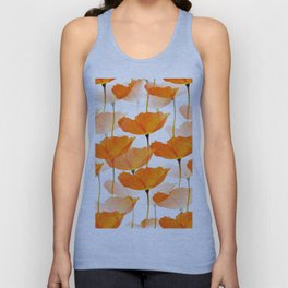 Orange Poppies On A White Background #decor #society6 #buyart Unisex Tank Top
