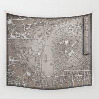 prague Wall Tapestries featuring PAPERCUT - PRAGUE by Colin Kiss