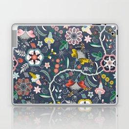 BOHO Chintz (Periwinkle grey) Laptop & iPad Skin