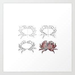 Evolution d'un crabe Art Print