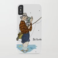 martell iPhone & iPod Cases featuring Pete Martell Pin-up by Emma Munger
