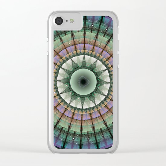 Groovy mandala with tribal patterns Clear iPhone Case