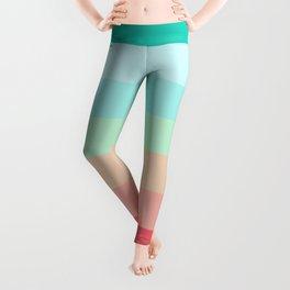 7 Colorful Retro Summer Stripes Airesekui Leggings