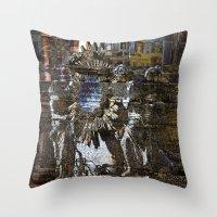 roman Throw Pillows featuring Roman Impression  by CAPTAINSILVA