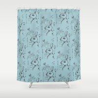 indie Shower Curtains featuring Indie Rabbit by AurorA