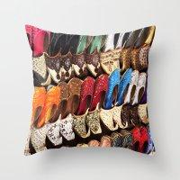 arabic Throw Pillows featuring Arabic Shoes by Ashley-liv